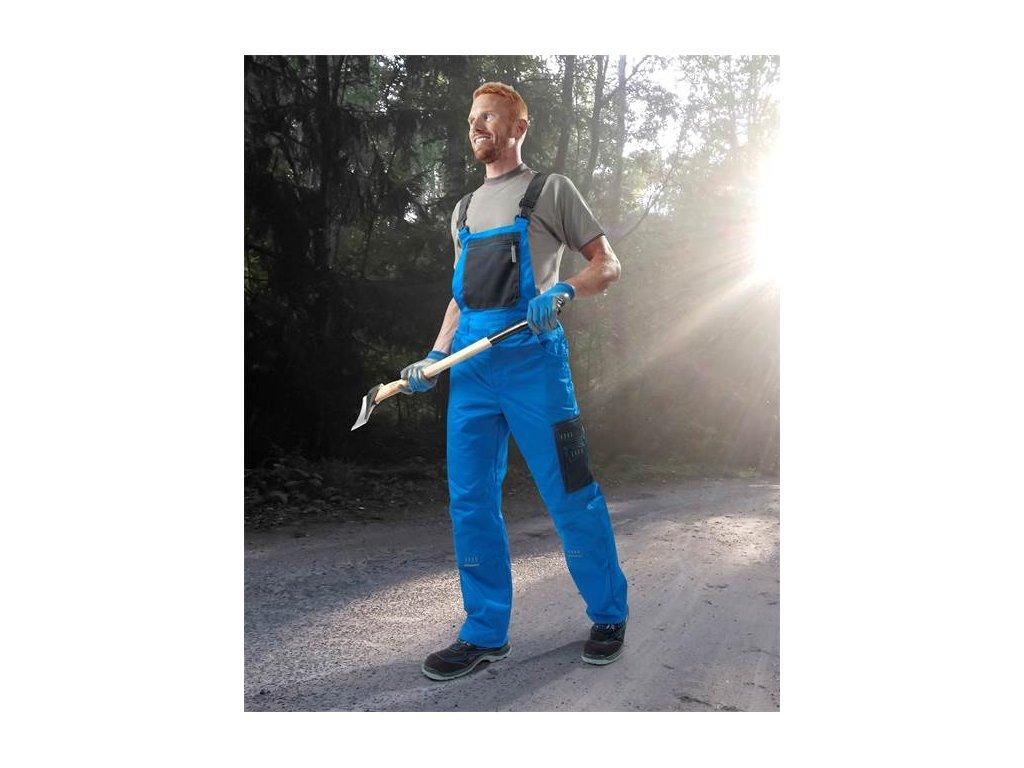 Nohavice s náprsenkou ARDON®4TECH 03 modro-čierne, predĺžené