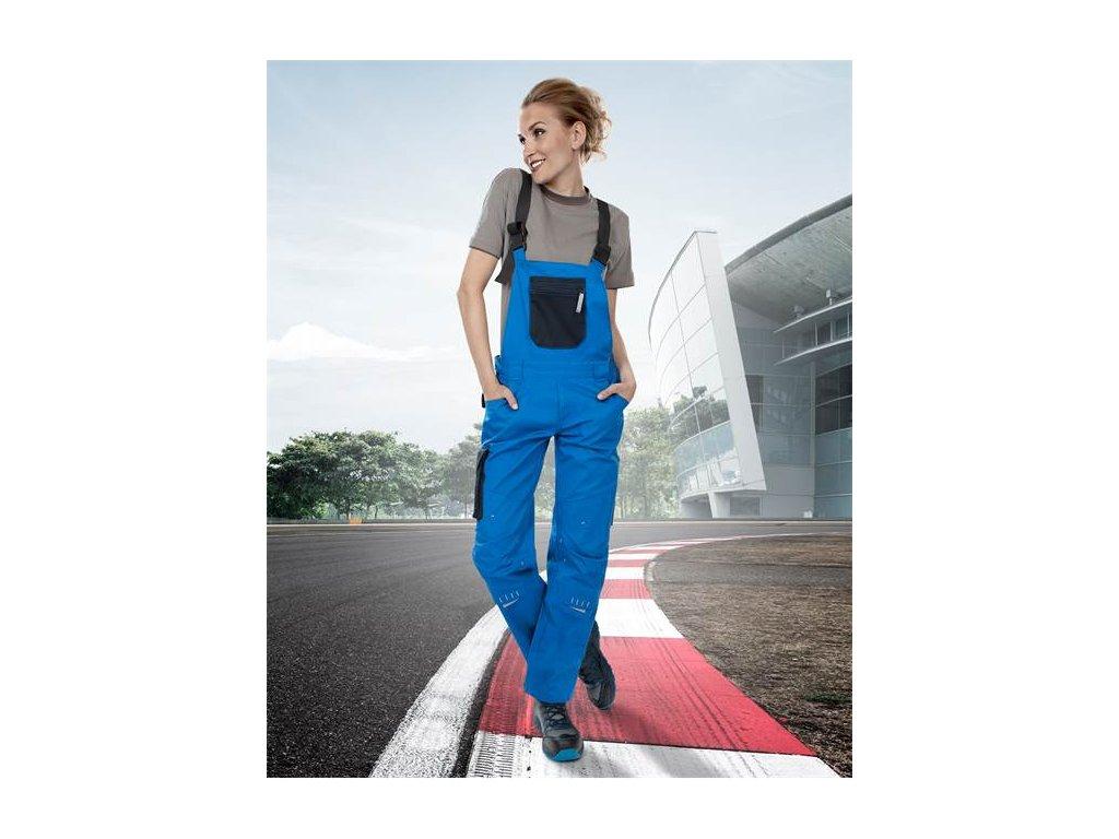 Dámske nohavice s náprsenkou 4TECH 03 modro-čierne, 164-172