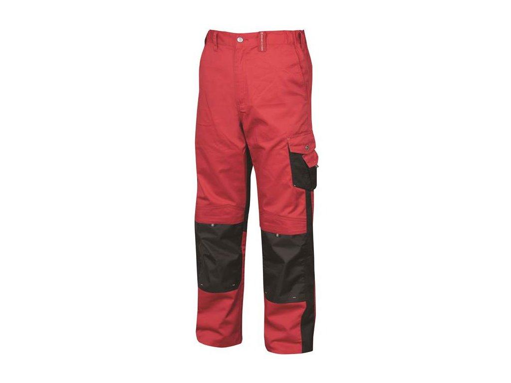 Nohavice do pása PRE100 02 červeno-čierne