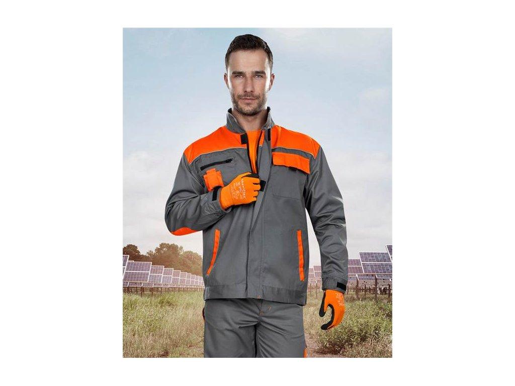 Blúza 2strong 01 sivo-oranžová