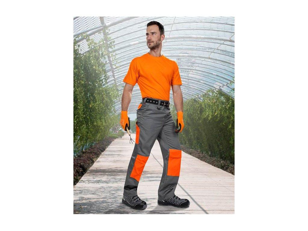 Nohavice do pása 2strong 02 sivo-oranžové