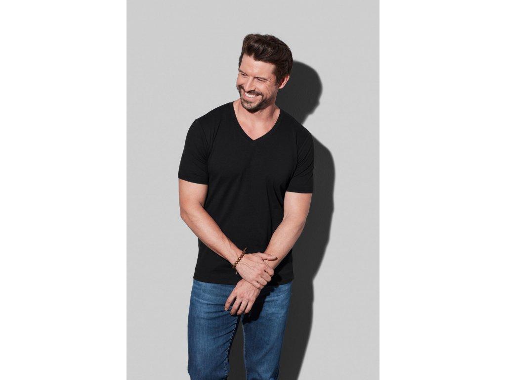 Pánske strečové tričko Dean V-neck