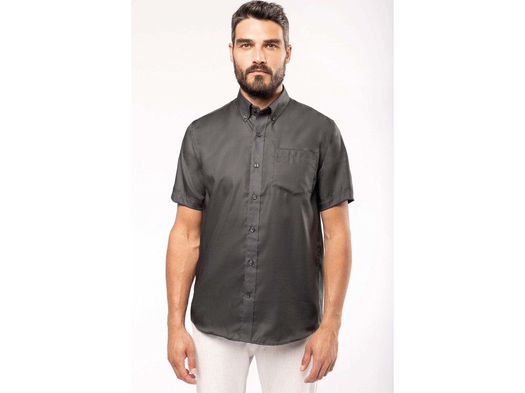 Pánská košile krátký rukáv v nežehlivé úpravě