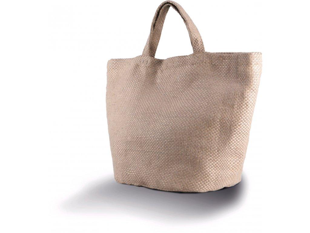 Moderná natural jutová taška