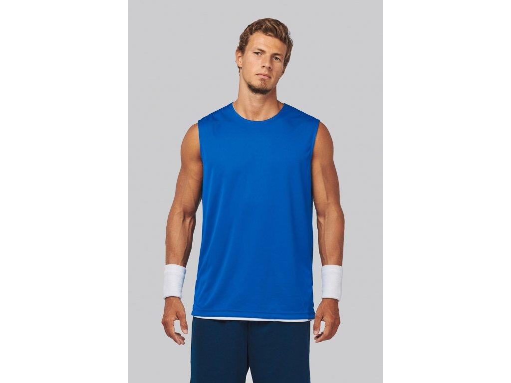 Športový dres - obojstranné tričko bez rukávov