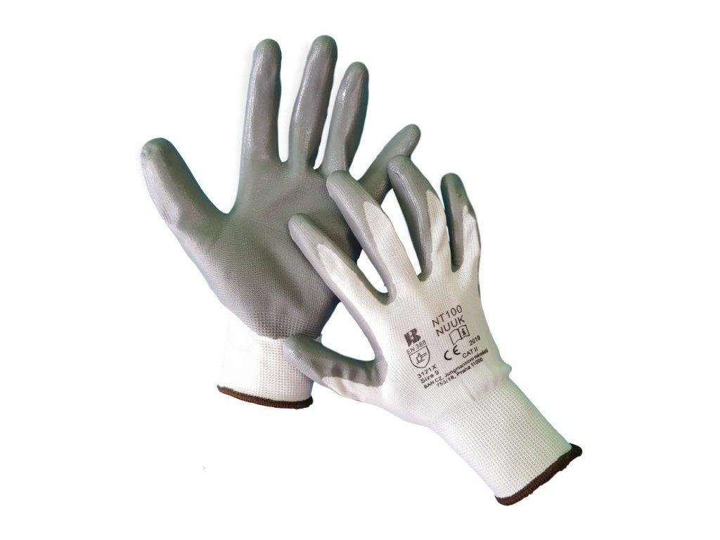 Máčané nitrilové rukavice NT100 NUUK