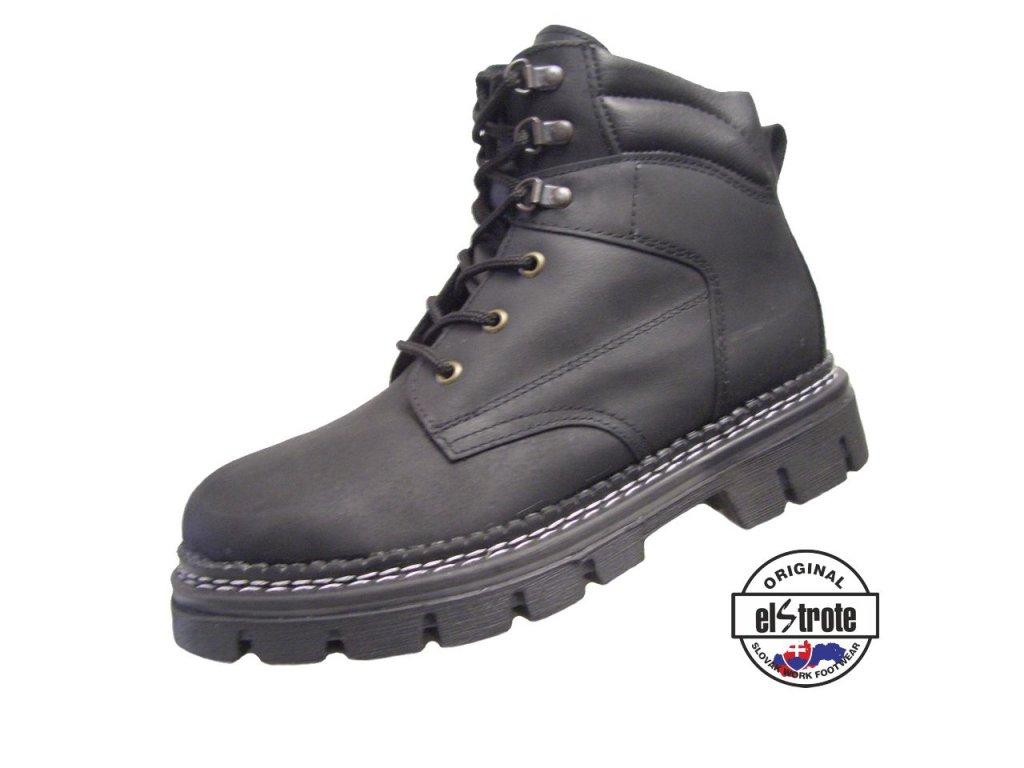 Členková farmárková obuv HEAVY 91 170 O1 čierne - dopredaj