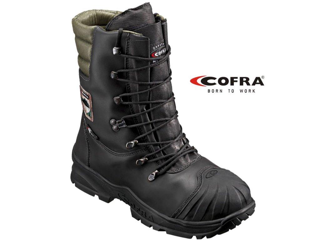 Protiporezová vysoká obuv COFRA POWER S2 čierna