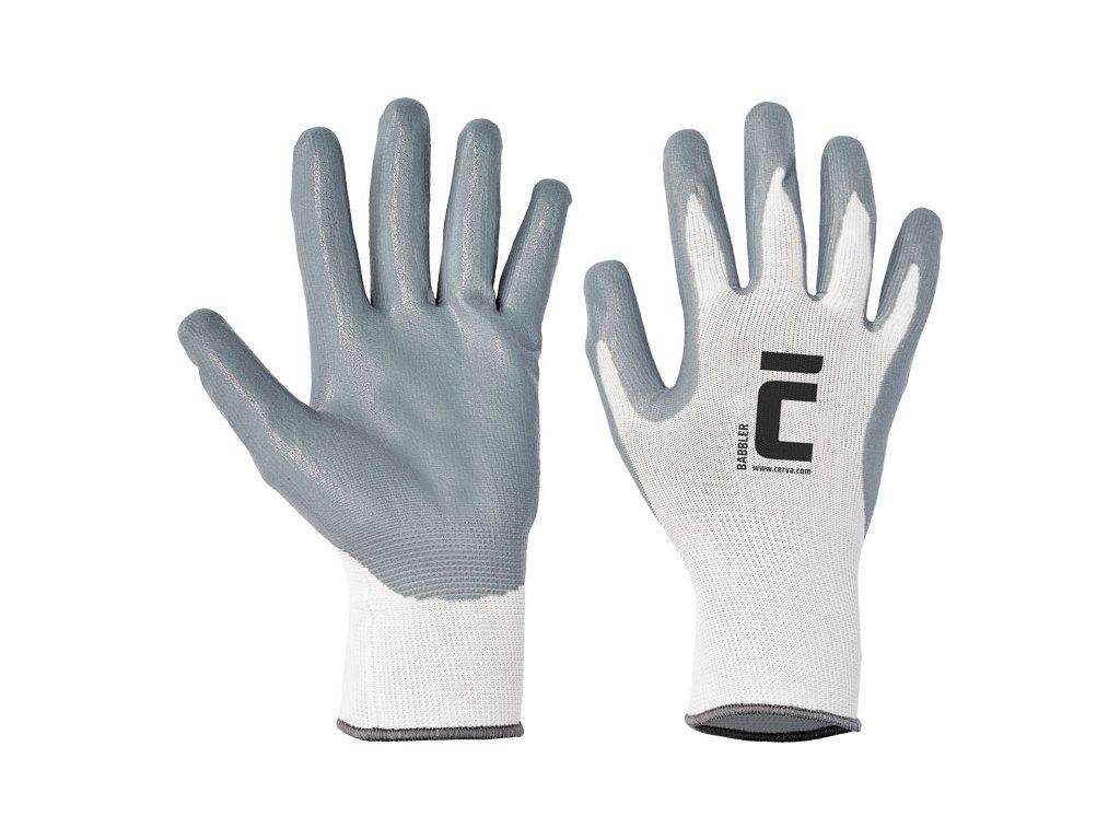 Polomáčané nitrilové nylonové rukavice BABBLER