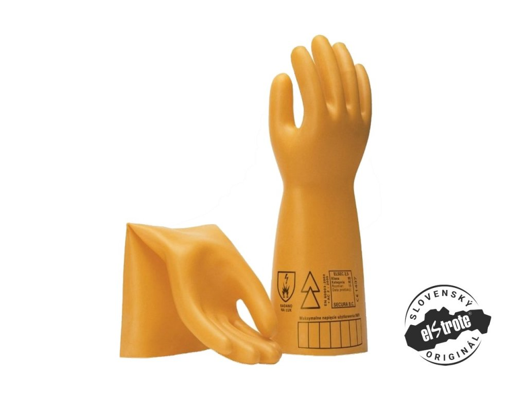 Dielektrické izolačné rukavice ELSEC 1000 V