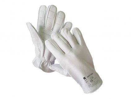 Antivibračné celokožené komfortné rukavice ANTI TIVI