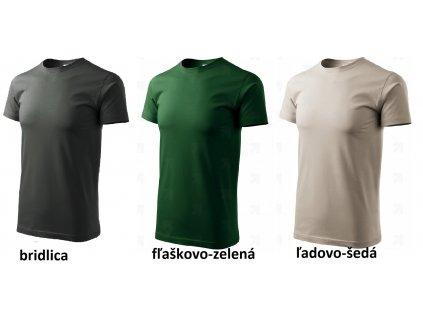 Bavlnené tričko ADLER BASIC rôzne farby- dopredaj