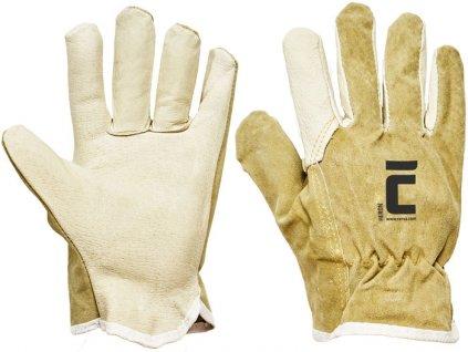 Celokožené pracovné rukavice HERON