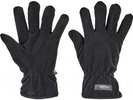 Fleecové zateplené rukavice MYNAH čierne
