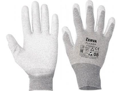 ESD nylonové rukavice máčané v polyuretáne FLICKER