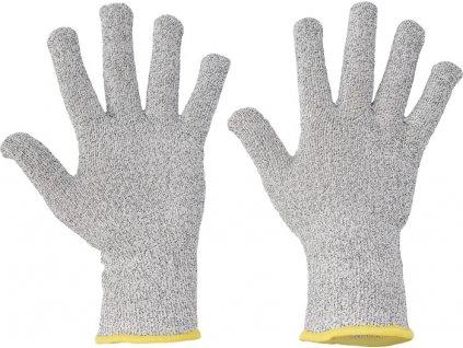 Bezšvové pletené protiporezové rukavice CROPPER