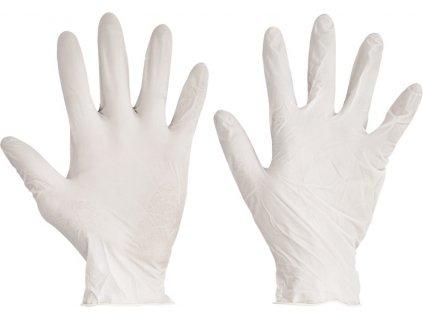 Jednorázové latexové pudrované pracovné rukavice - LOON