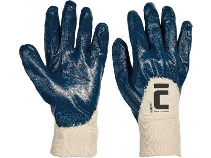 Bavlnené rukavice máčané v nitrile HARRIER
