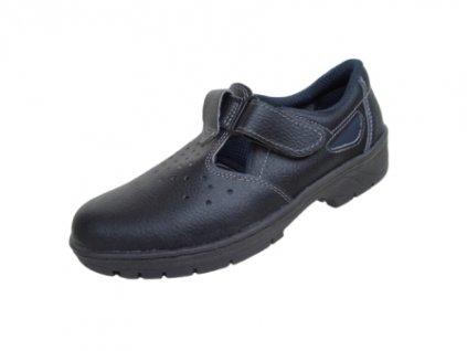 Bezpečnostné sandále KLASIK 91 265 S1 čierne - dopredaj