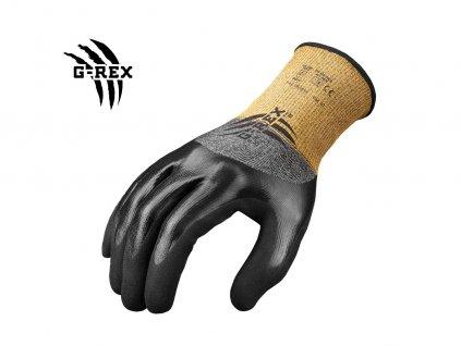 G-REX nitrilové proti porezové olejové rukavice - F16 OIL