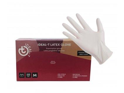 Pudrované latexové rukavice - IDEAL-T POWDERED