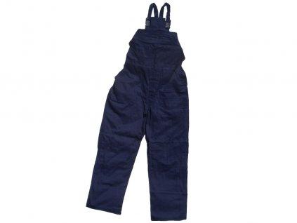 Dámske montérkové nohavice s náprsenkou KLASIK modré