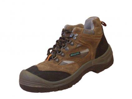 Bezpečnostná členková obuv LA1080 S1P hnedá - dopredaj