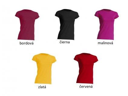Dámske bavlnené tričko TSRL150 rôzne farby - dopredaj