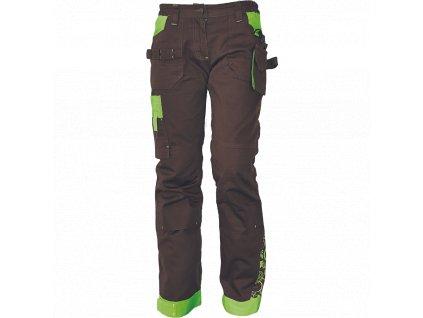 Dámske monterkové nohavice do pása YOWIE hnedé - dopredaj