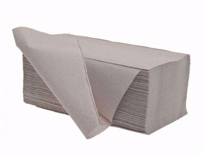 Papierové utierky ZZ jednovrstvové šedé 5000ks