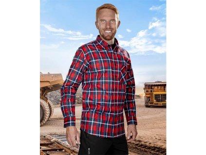 Flanelová košeľa JONAH, červená
