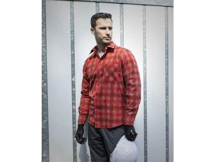 Flanelová košeľa URBAN, červená