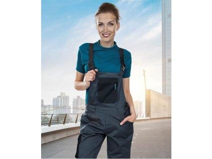 Dámske nohavice s náprsenkou ARDON®4TECH 03 sivo-čierne, 164-172