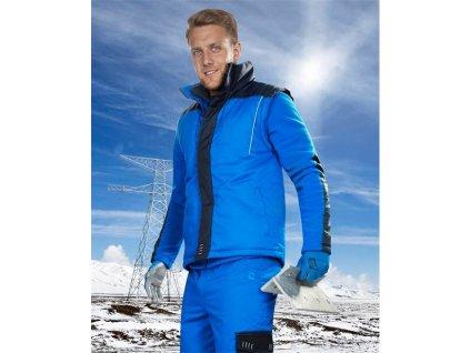 4TECH 06 zimná vesta modrá