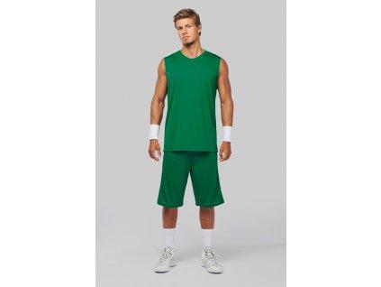 Basketbalový dres - tričko bez rukávov do V