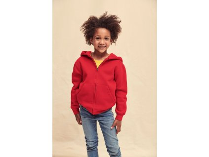 Detská mikina Premium Hooded s kapucňou a zipsom