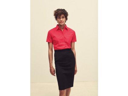 Dámska popelínová košeľa s krátkym rukávom Lady-Fit Short Sleeve Poplin Shirt