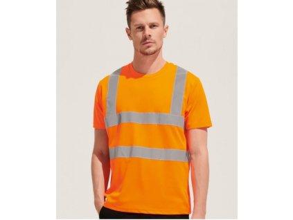 Tričko s reflexnými pruhmy