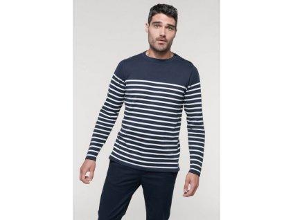 Pánský pruhovaný sveter - Výpredaj