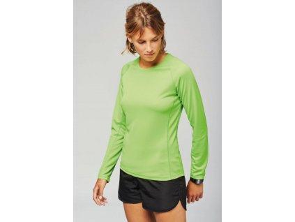 Dámske (dievčenské - dorastenecké) športové tričko s dlhým rukávom - Výpredaj