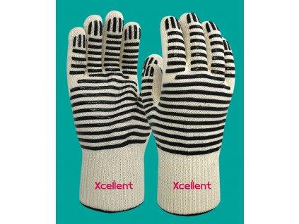 Protiporezové a tepluvzdorné pracovné rukavice XCELLENT 12-401