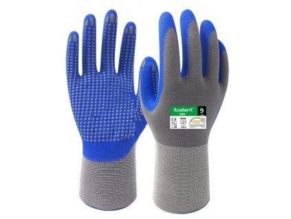 Ergonomické pracovné nitrilové rukavice s terčíkmi XCELLENT 3005