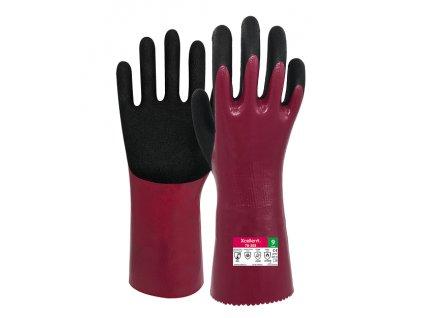 Chemické protiporezové pracovné rukavice XCELLENT 78-308