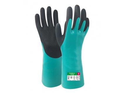 Chemické protiporezové pracovné rukavice XCELLENT 78-309