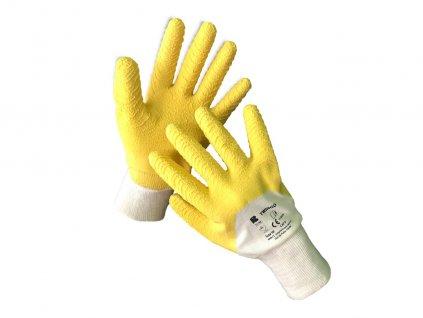 Máčané latexové bavlnené rukavice TWINGO