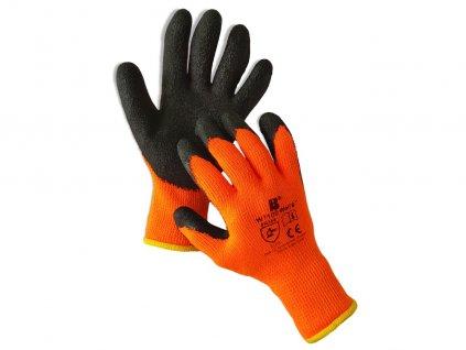Máčané zimné latexové akrylové rukavice W1100 WOLF