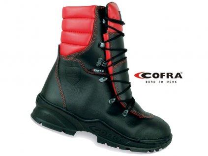 Protiporezová vysoká obuv COFRA FORCE S2 čierna