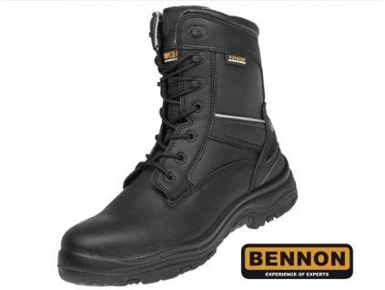 Bezpečnostná vysoká obuv BNN ROBUSTER S3 čierna