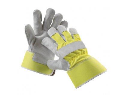 Kombinované reflexné pracovné rukavice CURLEW YELLOW