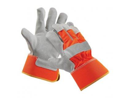 Kombinované reflexné pracovné rukavice CURLEW ORANGE